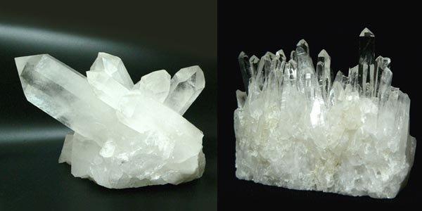 Kalnų krištolo kristalai